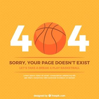 404 fehler hintergrund mit basketball