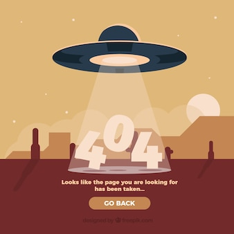 404 fehler hintergrund mit ufo