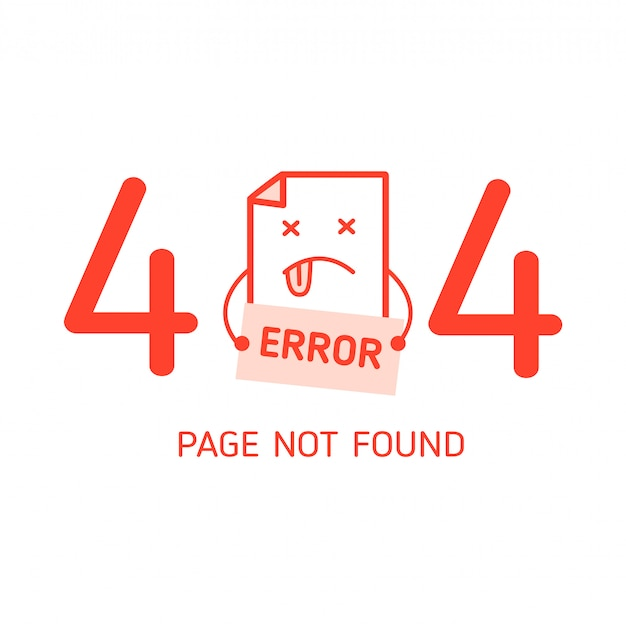 404-fehler mit zeichenfehler-entwurfsvorlage für die website
