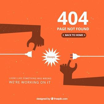 404 fehler vorlage in flachen stil