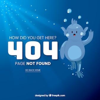 404 Fehler Web Template mit lustigen Monster