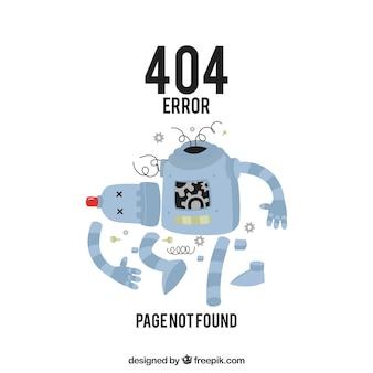 404 fehlerentwurf mit defektem roboter