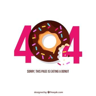 404 fehlerentwurf mit donut