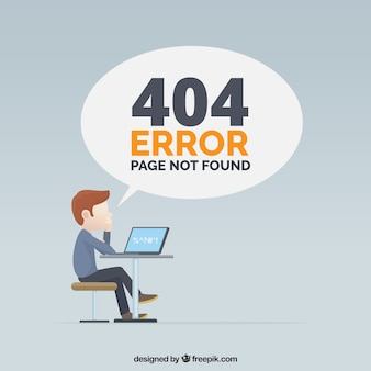 404 fehlerentwurf mit mann