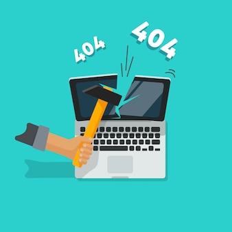404 fehlerseitenillustration auf blauem hintergrund