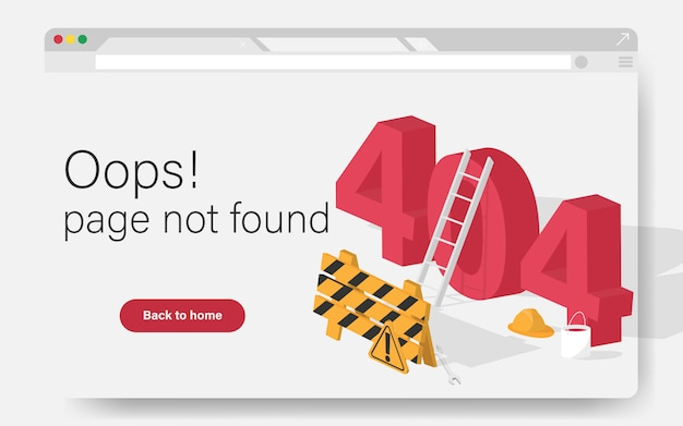 404 site-seite wurde konzept nicht gefunden. die zielseite für fehlerfehler für website-fehler / website befindet sich im aufbau. baustelle der webseite