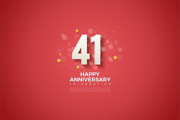 41-jähriges jubiläum, feiervorlage