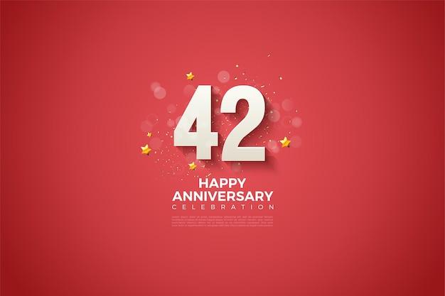 42. jubiläum mit dem luxus des numerischen designs