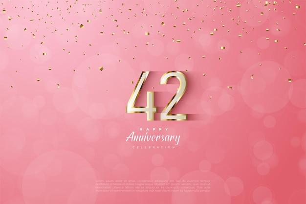 42. jubiläum mit luxuriösem goldrand