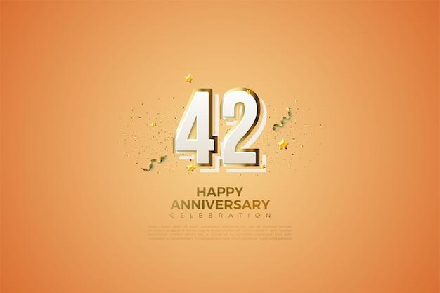 42. jubiläum mit modernem zifferndesign