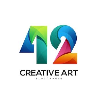 42 logo buntes farbverlaufsdesign
