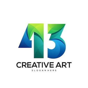 43 logo farbverlauf buntes design