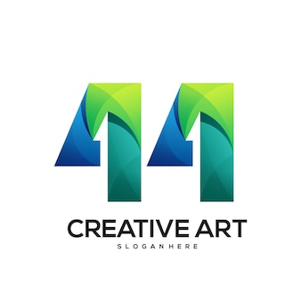 44 logo buntes farbverlaufsdesign