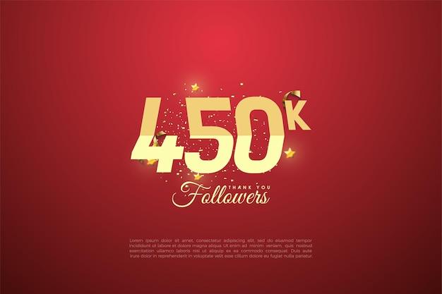 450.000 follower mit abgestuften zahlen