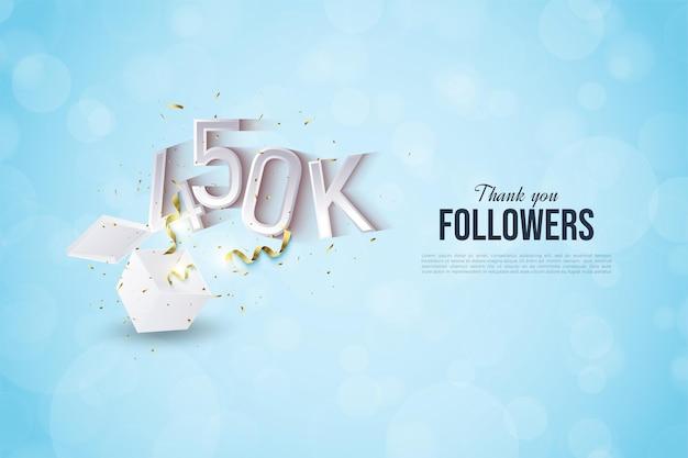 450.000 follower mit auftauchenden zahlen