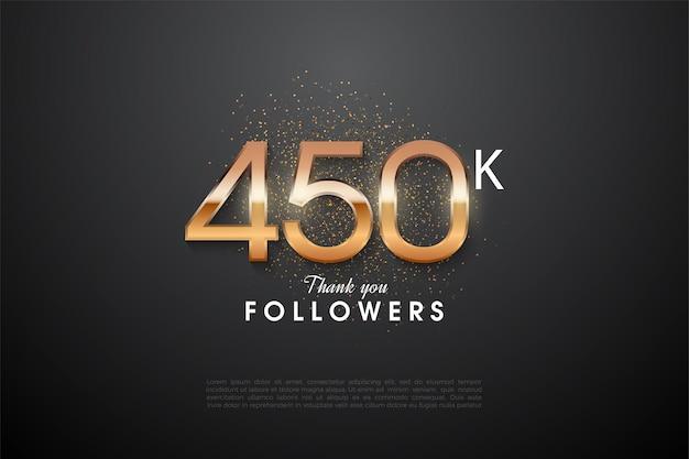 450.000 follower mit glänzenden zahlen