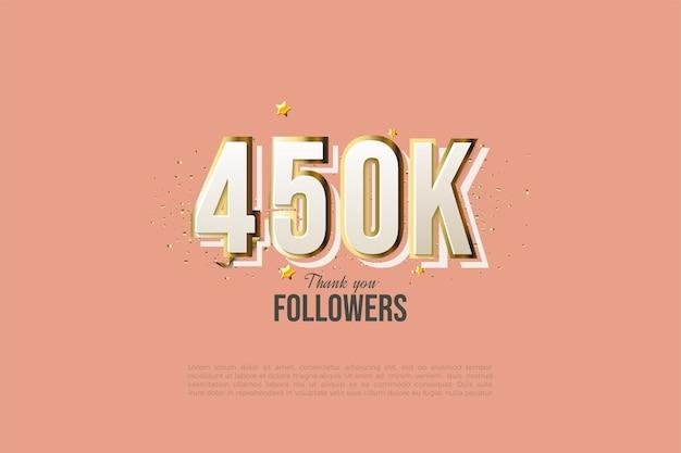 450.000 follower mit klarem design, moderne zahlen