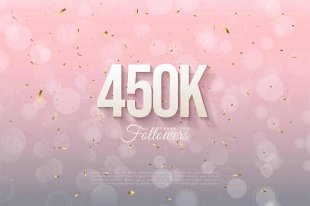 450.000 follower mit schattierten 3d-figuren