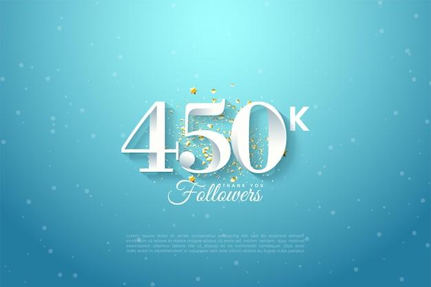 450k follower vor blauem himmelshintergrund