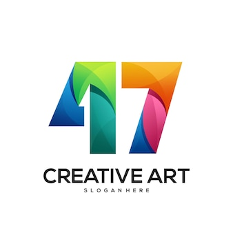 47 logo buntes farbverlaufsdesign