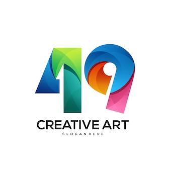 49 logo farbverlauf buntes design