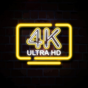 4k ultra hd neonschild illustration
