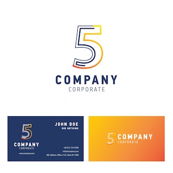 5 firmenlogo-designvektor