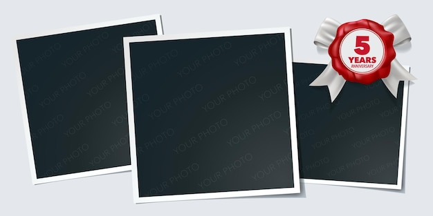 5 jahre jubiläum symbol logo design-element