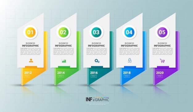 5 schritte infografik-vorlage