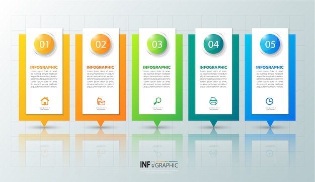 5 schritte infografik