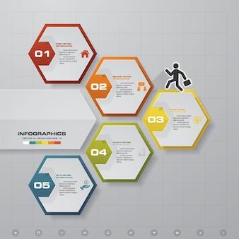 5 schritte infografiken option.