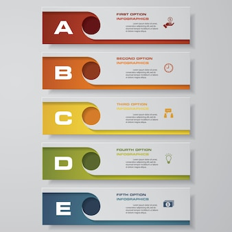 5 schritte infografiken option.