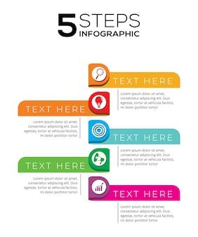 5 schritte infographik