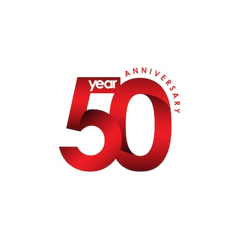 50-jähriges jubiläum-vektor-schablonen-design-illustration