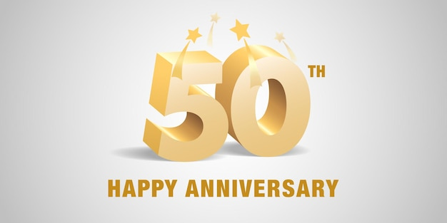 50 jahre jubiläum logo illustration