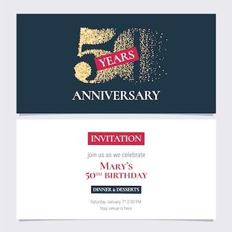 50 jahre jubiläumseinladungskarte