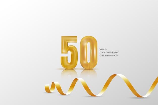 50 jahre jubiläumsfeier vorlage mit goldener nummer