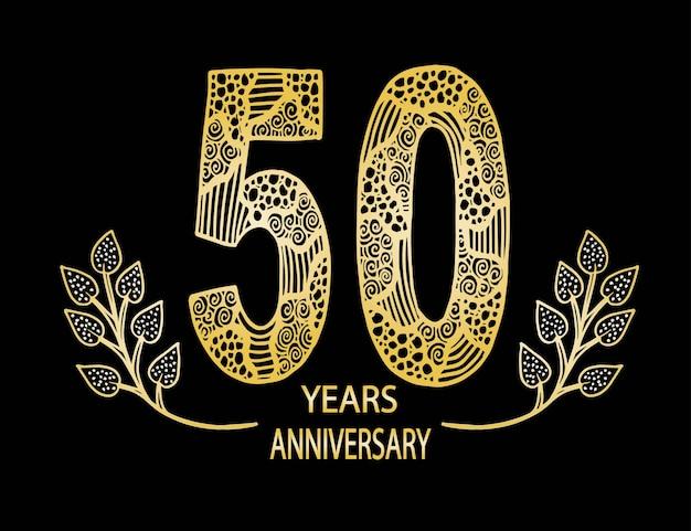 50 jahre jubiläumsfeierkarte