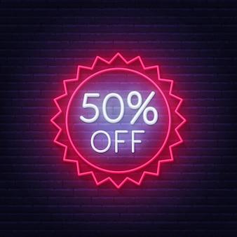 50 prozent rabatt auf leuchtreklame