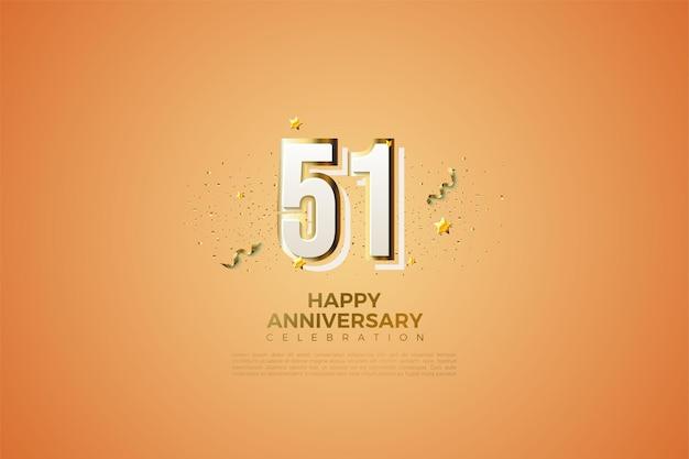 51. jubiläum mit modernem design