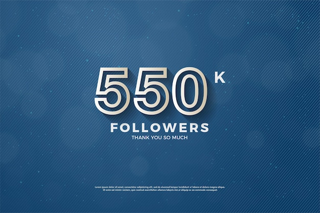 550.000 follower hintergrund mit braun umrandeten zahlen