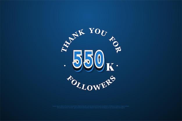 550.000 follower hintergrund mit graffiti-nummern