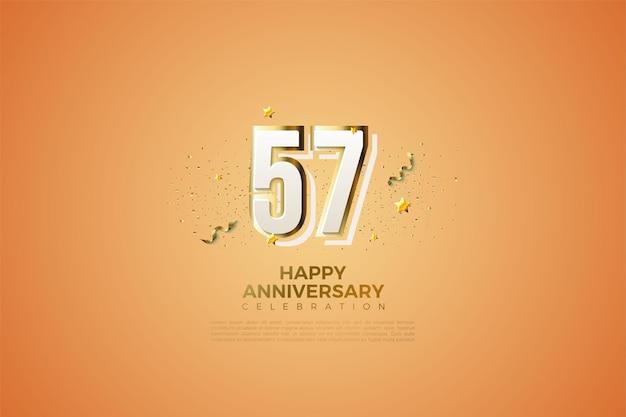 57. jubiläum mit zahlenillustration
