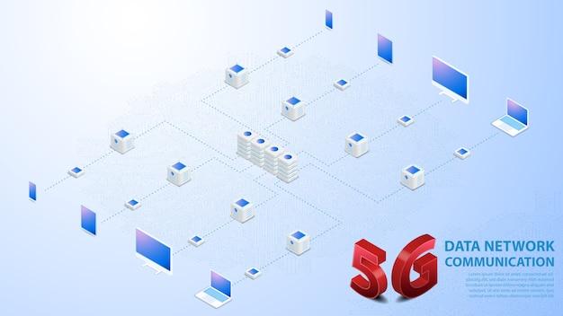 5g datennetzwerkkommunikation drahtloses hispeed-internet