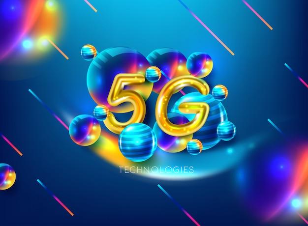 5g drahtloser internet-verbindungshintergrund