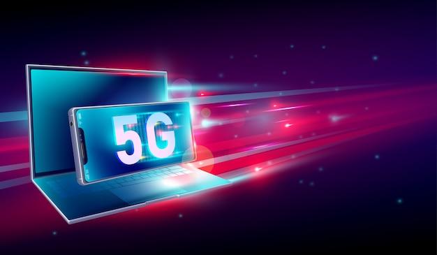 5g hochgeschwindigkeitsnetzkommunikationsinternet
