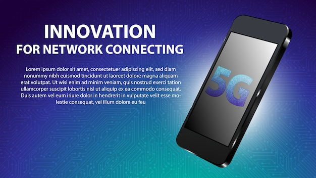 5g innovation für network connecting hintergrund