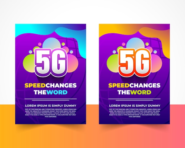 5g internet flyer vorlage