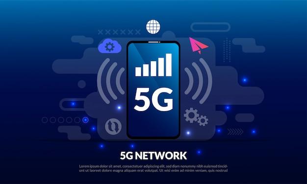 5g mobile netzwerkvorlage
