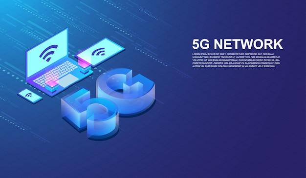 5g netzwerk-internetkommunikation